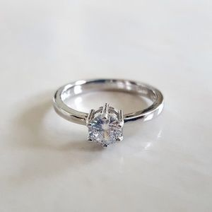 Sterling Silver Solitaire CZ Ring [NWOT]